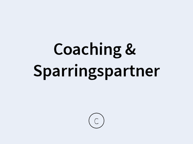 Coaching & Sparringspartner