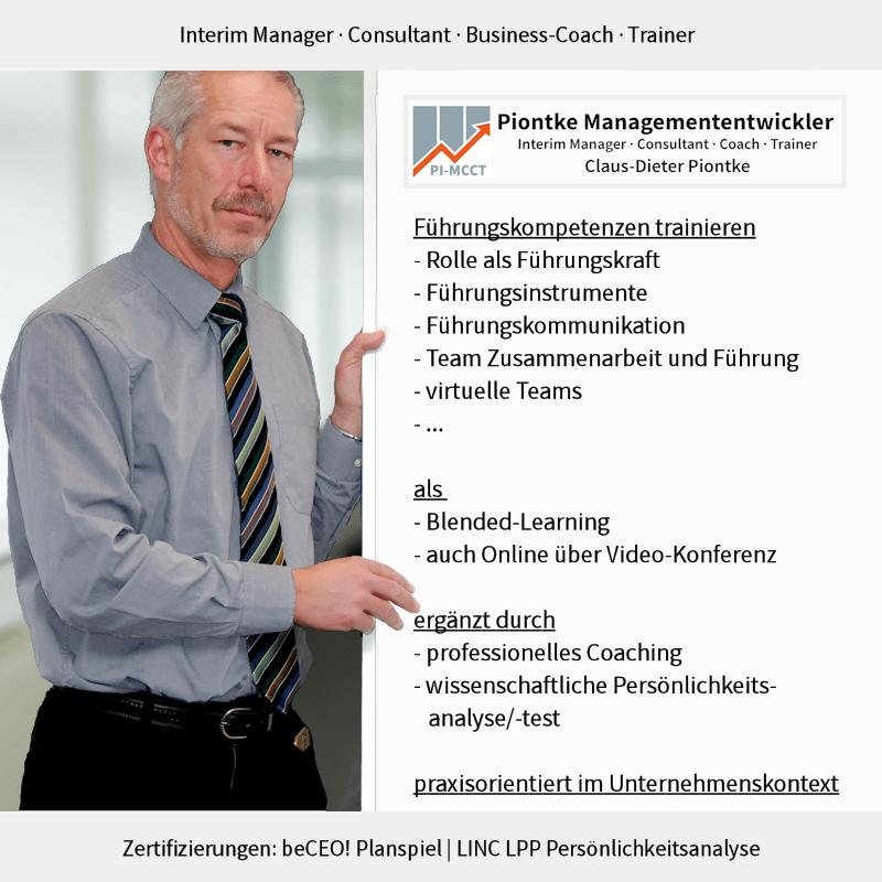Piontke Managemententwickler Führungskompetenzen trainieren