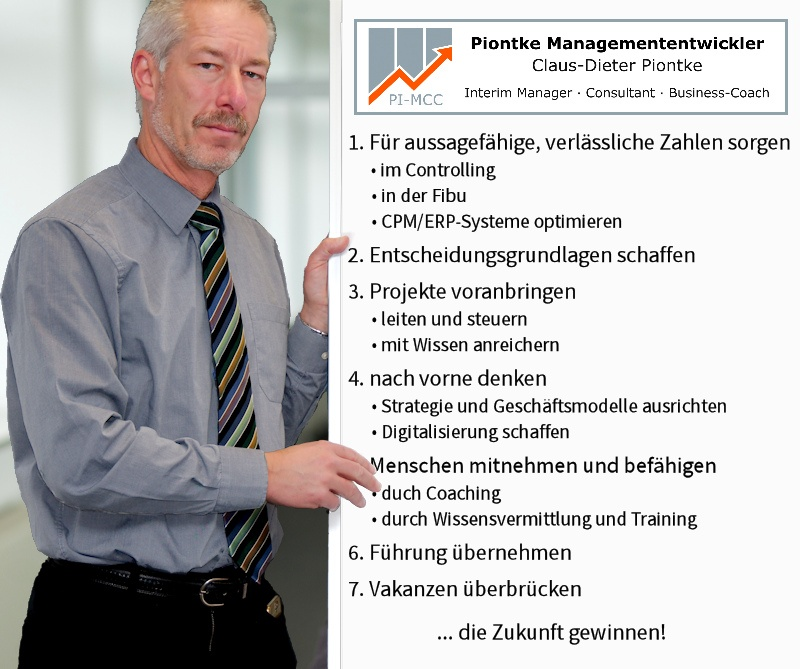 Piontke Managementenwickler Interim Manager